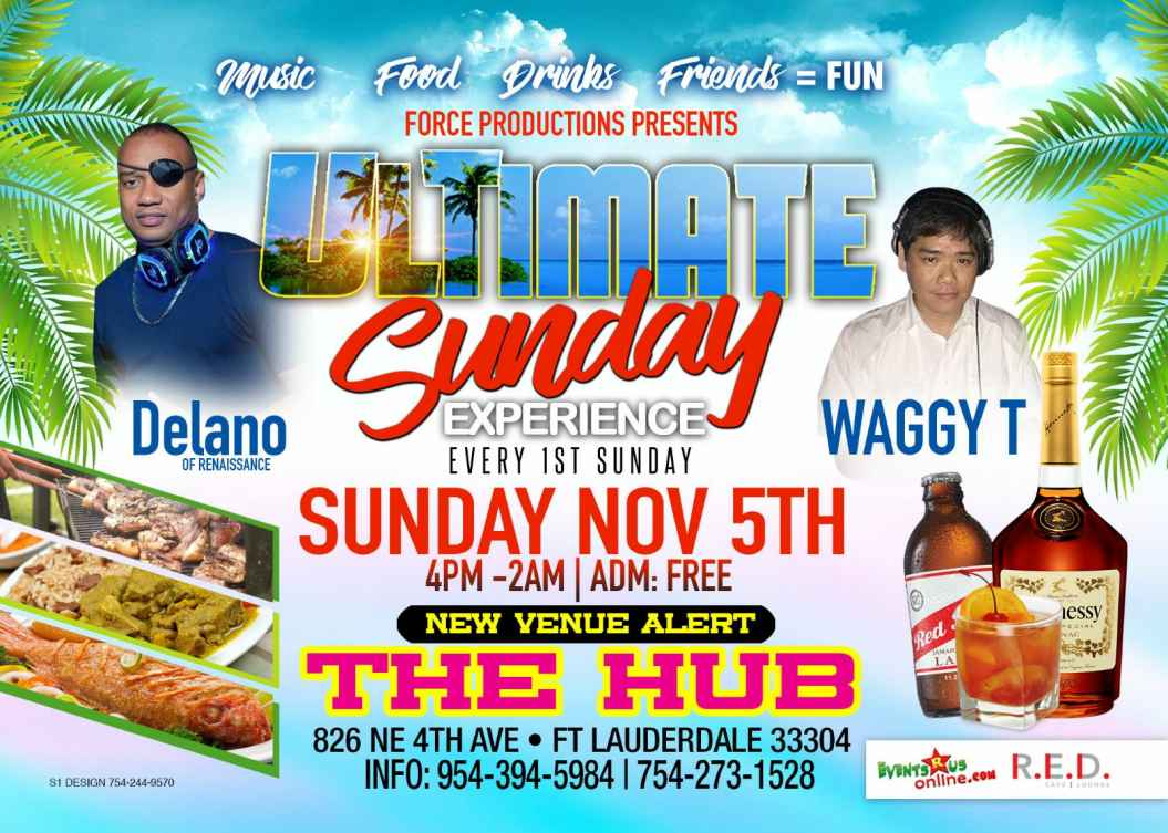 The ULTIMATE Sunday Experience at The Hub, Ft Lauderdale