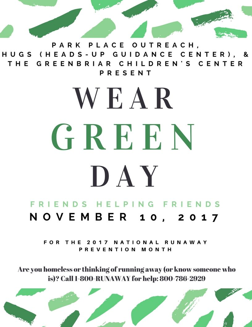 Park Place Outreach Wear Green Day