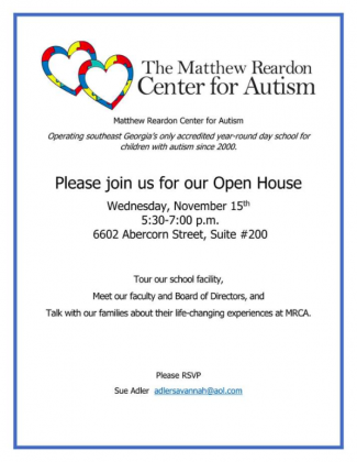 Matthew Rearden Center for Autism Open House