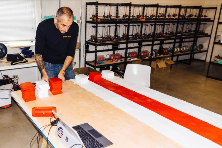 Largest 3D Printed American Flag in progress for Veterans Day Unveiling