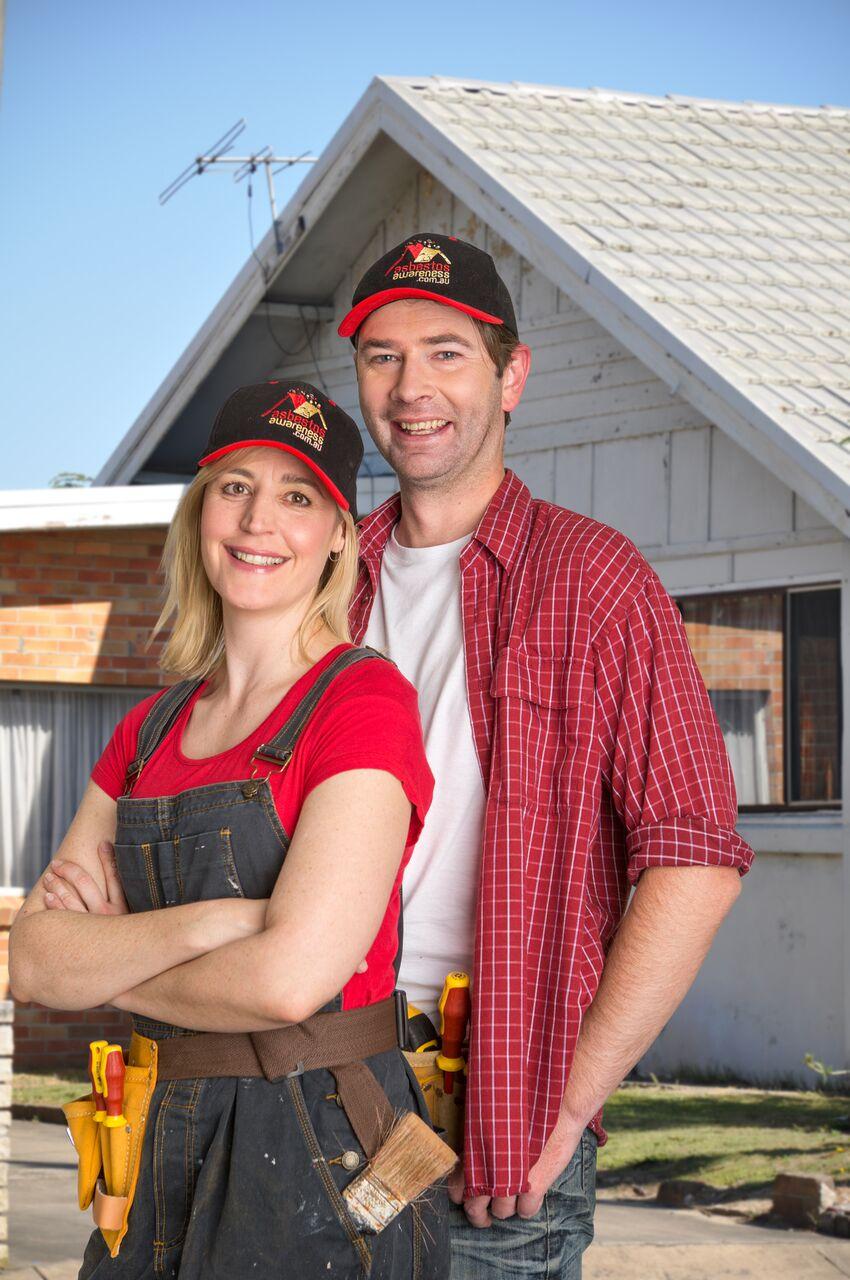 AA Hero couple with house