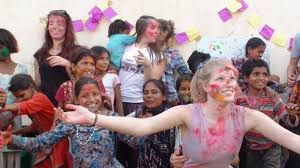 Volunteer in India .