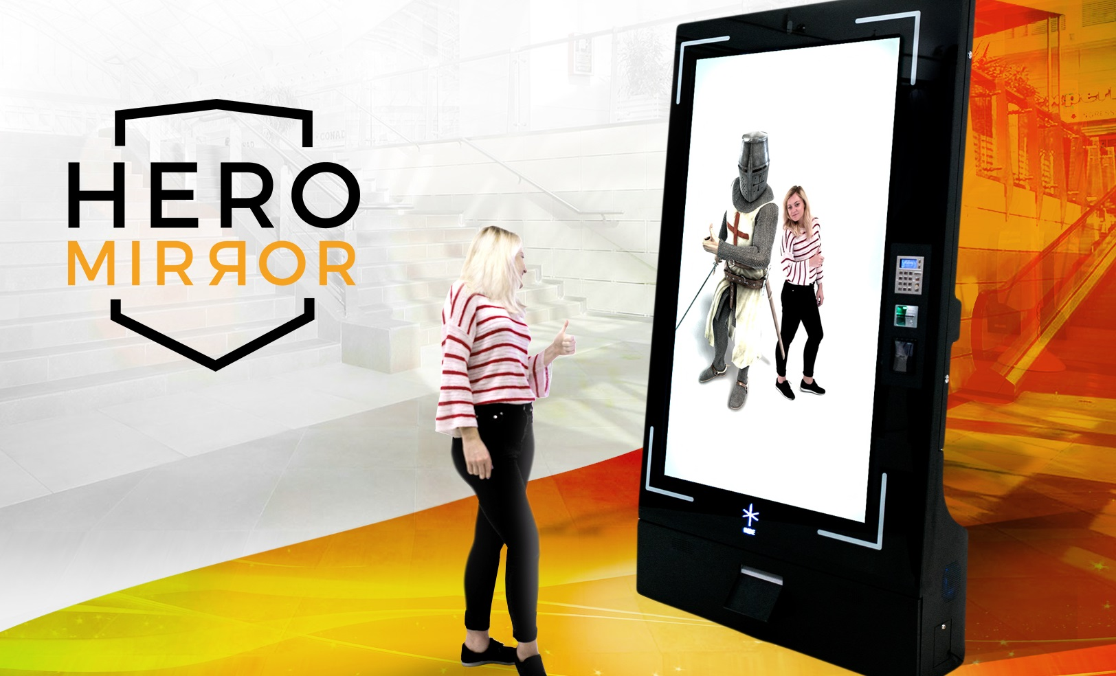 HeroMirror – A standalone Augmented Reality photo booth