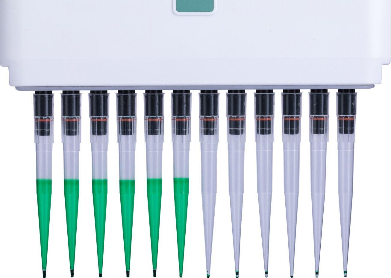 Standard GripTips x6 (L) vs Low Retention GripTips x6 (R)