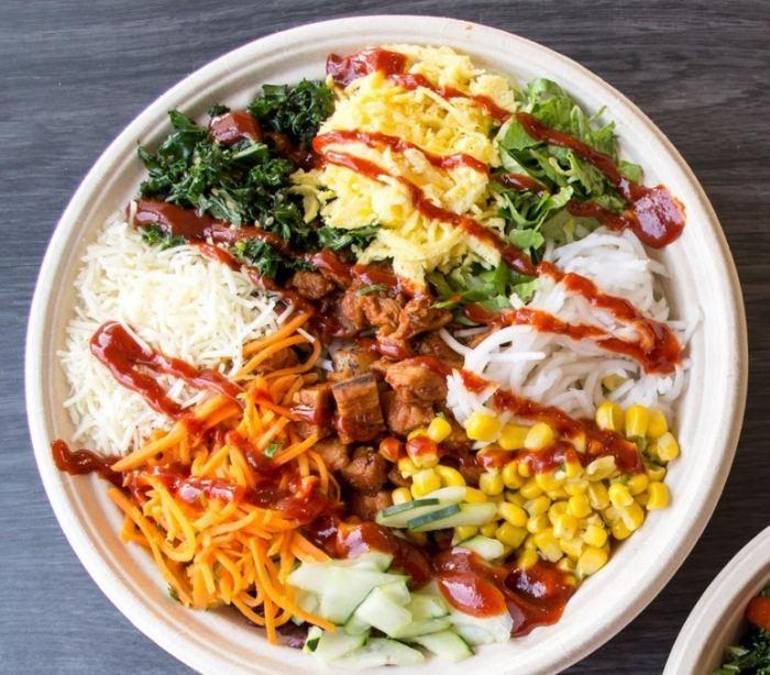 BIBIBOP Spicy Chicken Rice Bowl