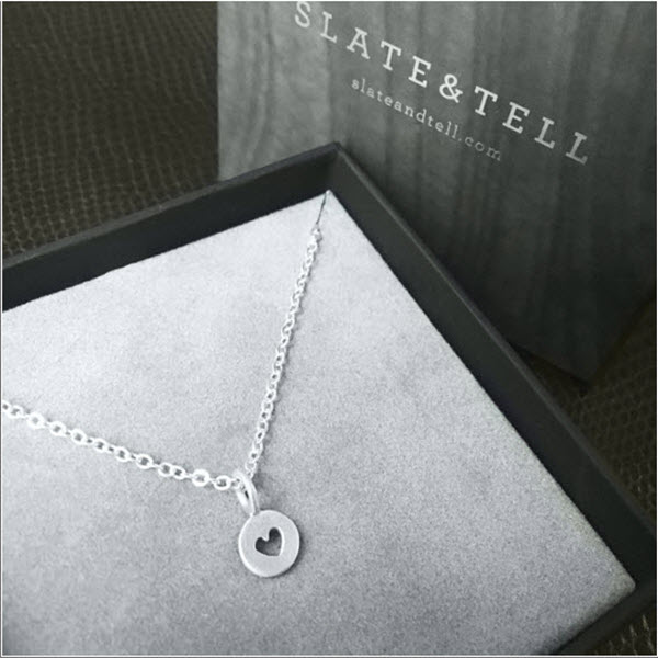 Heart Necklace - Slate and Tell