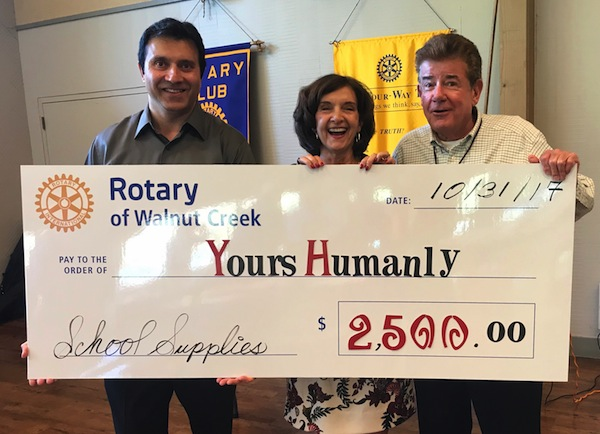 Sunny Singh, Yours Humanly; Trudy Triner and Fletcher Tyler, Rotary Club of WC