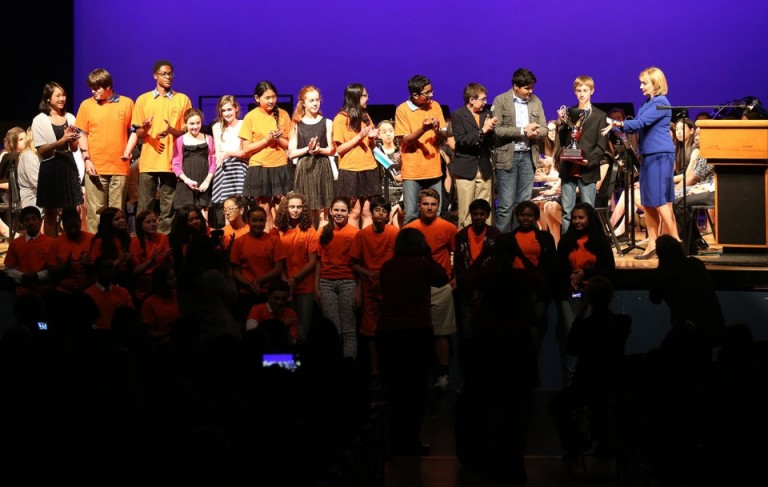 John Witherspoon Middle School students receive Governor's Cup