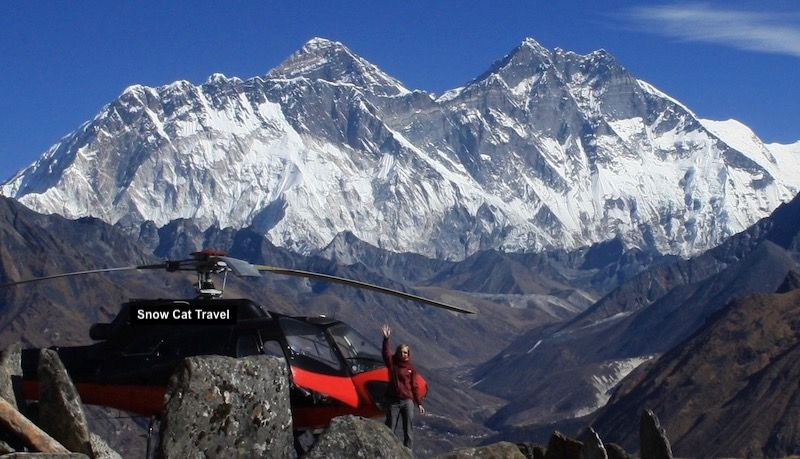 Everest and a Private Helicopter-What's not to like?