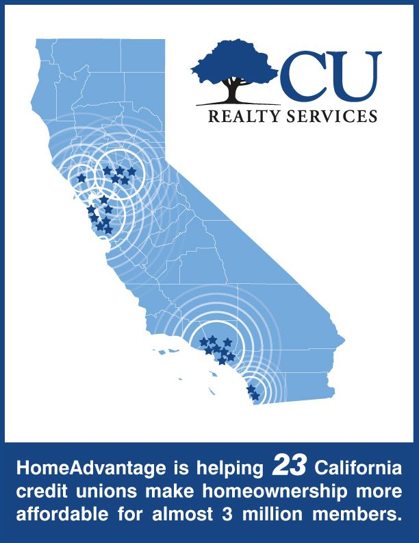 Credit unions across California are using HomeAdvantage from CU Realty Services.