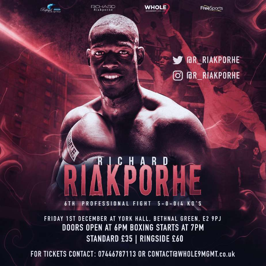 Pro Boxing - Richard Riakporhe 6th Fight
