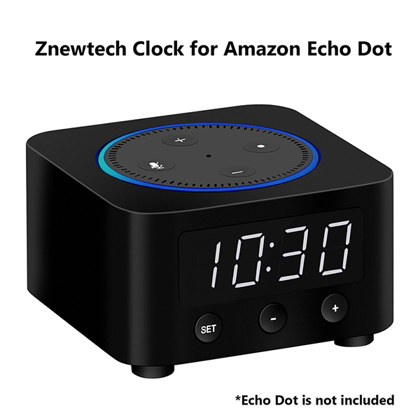 Znewtech Clock For Amazon Echo Dot