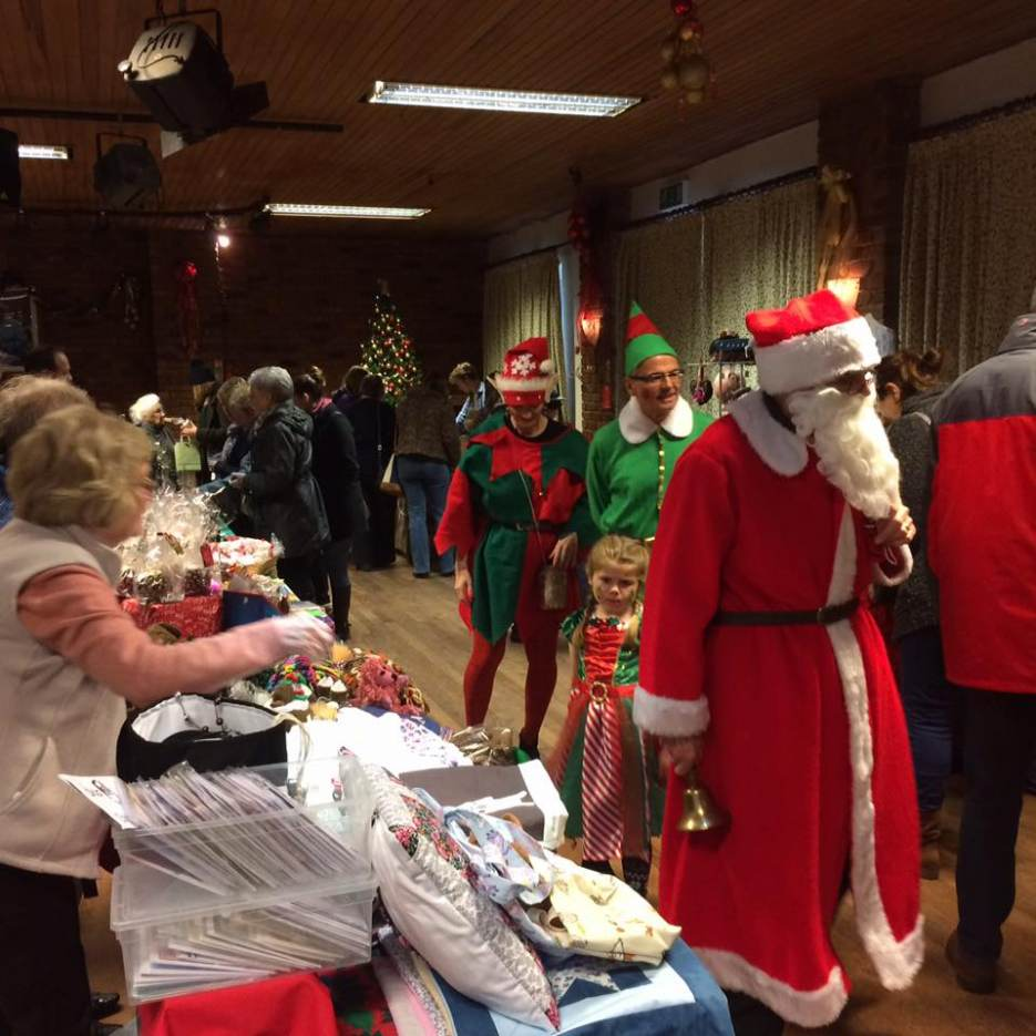 Antrobus Welcomes Santa At The Christmas Market