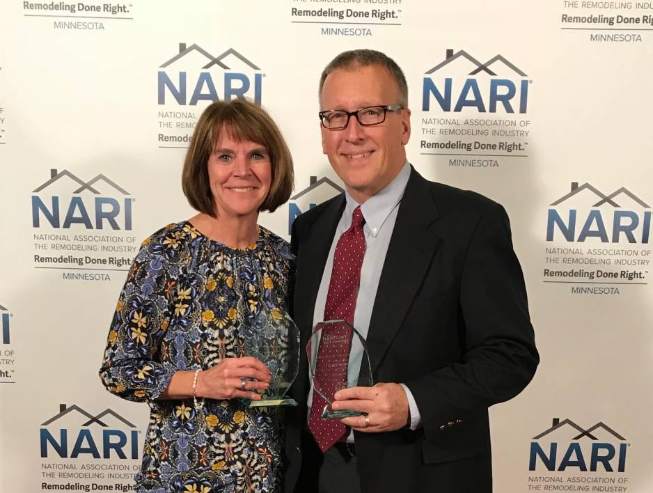 Closets For Life Owner, Rick Lyrek, And Wife With Awards