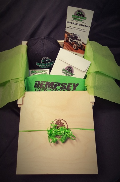 The Dempsey Off Road Adventures gift box is the perfect holiday gift.