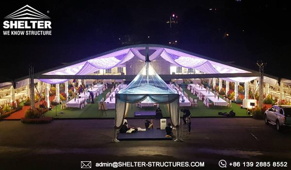 Royal Wedding Tent by Shelter - 35 x 50m Arch Marr