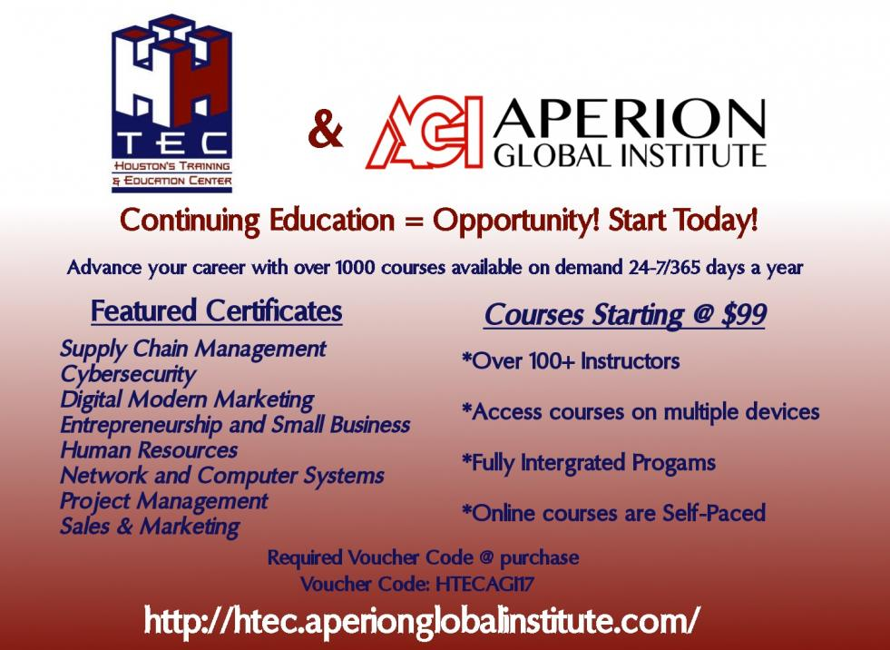 HTEC and Aperion Global Institute