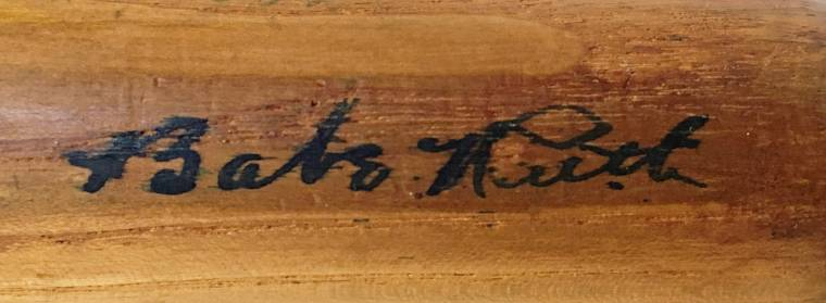 Baseball bat signed by both Babe Ruth and Hank Aaron (est. $6,000-$7,000).