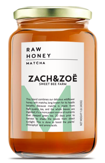 16oz Matcha Honey by Zach and Zöe