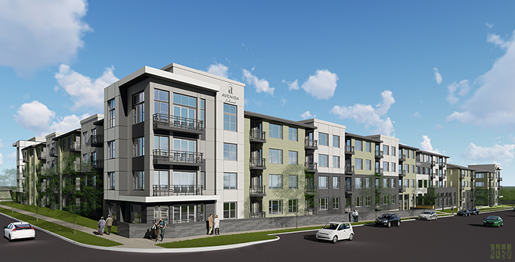 Avenida Lakewood, a new service-enriched rental community for active adults.