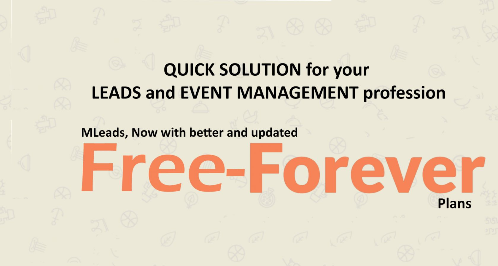 QUICK SOLUTION for your LEADS & EVENT MANAGEMENT P