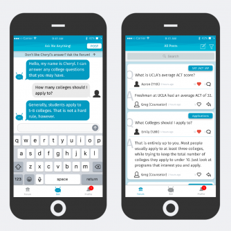 Left: Chatbot / Right: Forum