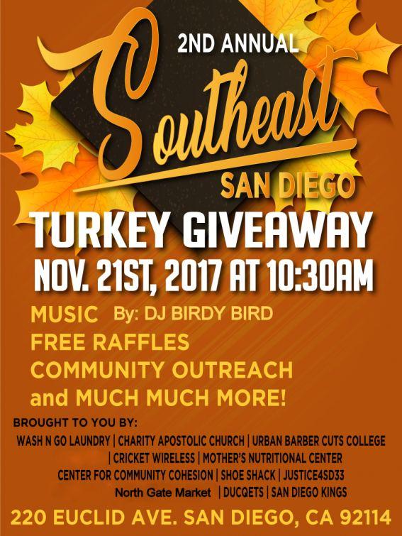 free turkey giveaway san diego