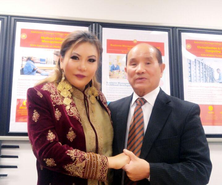 Princess Maria Amor and Mr. Vo van Thanh