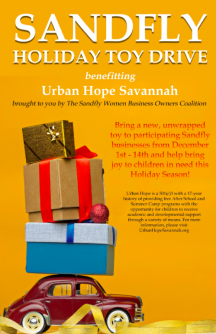 SANDFLY WOMEN BUSINESS OWNERS COALITION HOLD TOY DRIVE