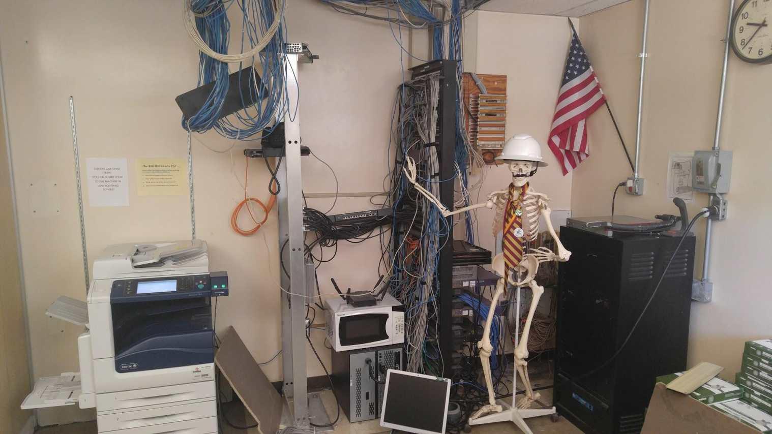 Turpin High School server room