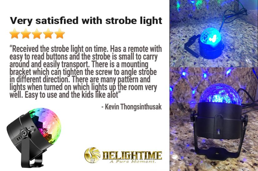 Check Out what Customers are Saying about the Delightime Strobe Light