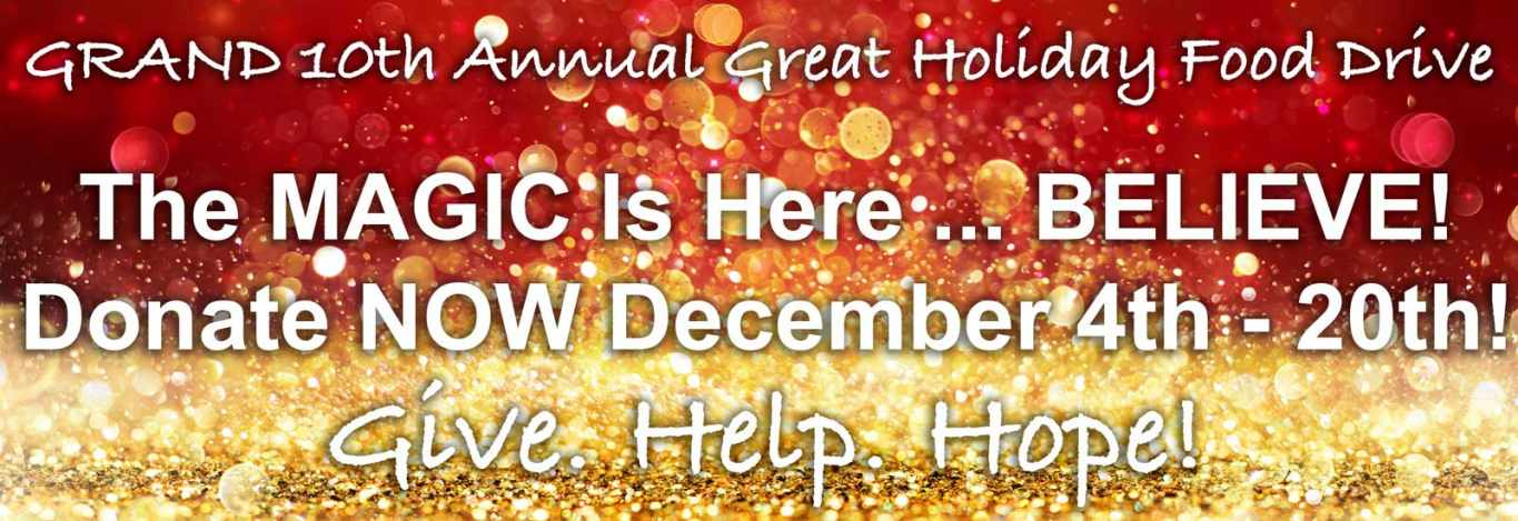 10th Annual Great Holiday Food Drive