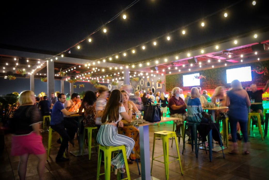 Treehouse rooftop lounge at Society