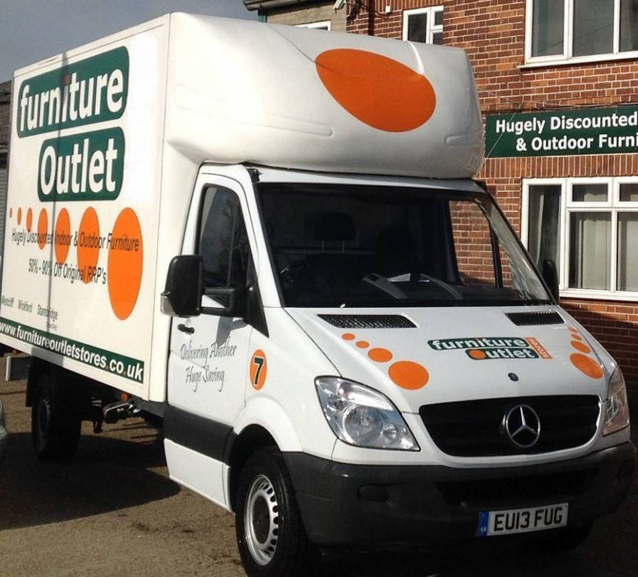 Furniture Outlet Stores - one of our delivery vans