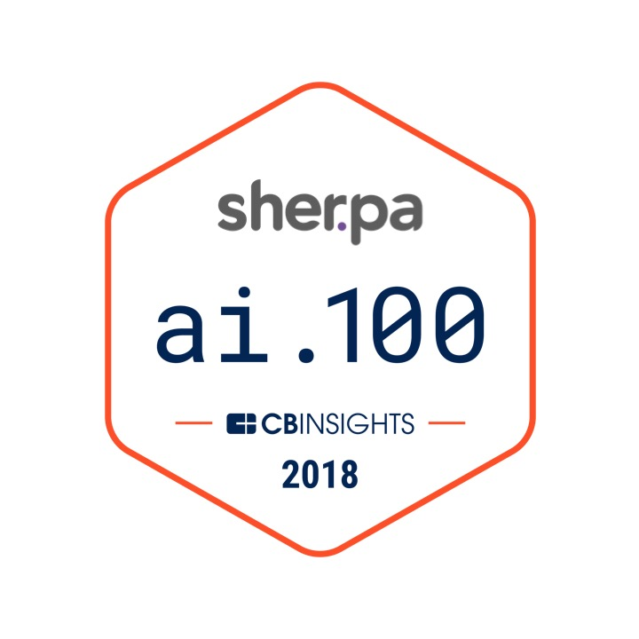 Sherpa features on CB Insights AI 100