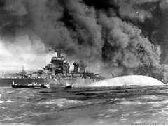 USS OKLAHOMA SUNK