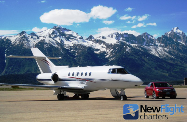 Empty leg private jet charter with New Flight Charters ready for departure