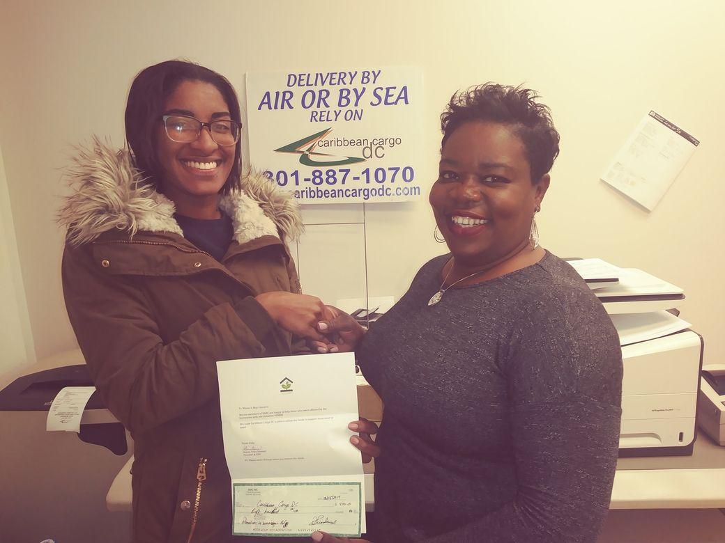Caribbean Cargo DC's Office Staff, Tanisha, with Donna Trim-Stewart (right)