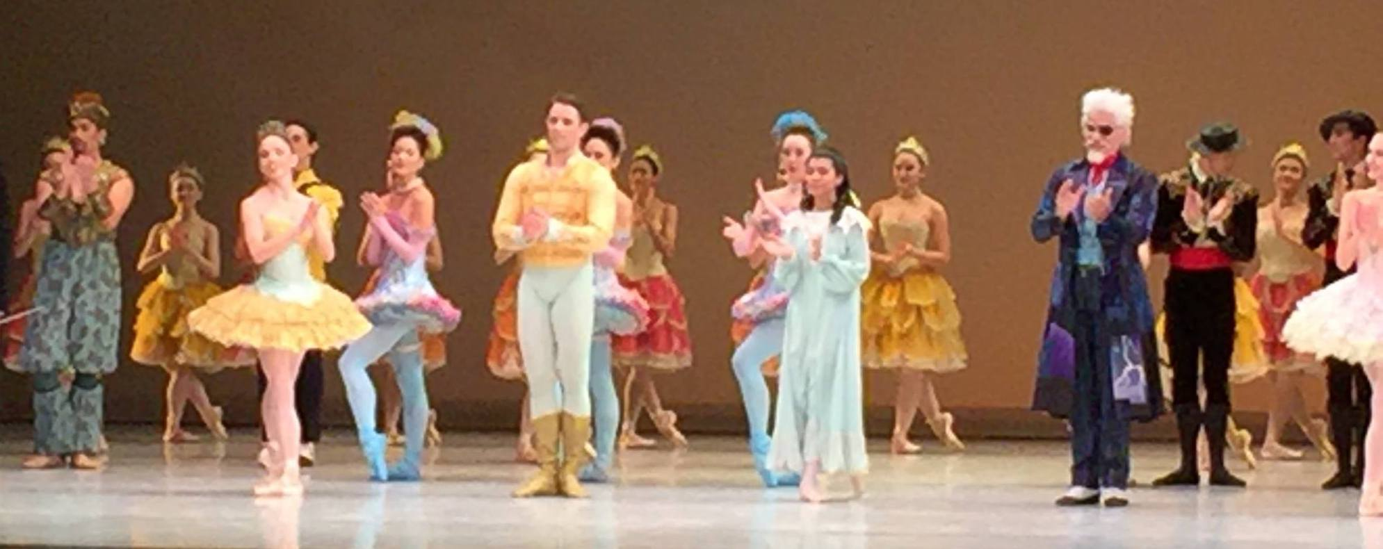 "Angela Watson as ""Clara"" (Right of Prince) in 2017 ""Nutcracker"" Curtain Call."