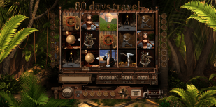 "Graphic design fot the slot machine ""80 Days Travel"""