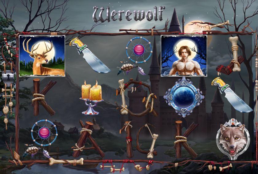 """Game Design for the slot machine """"Werewolf"""""""