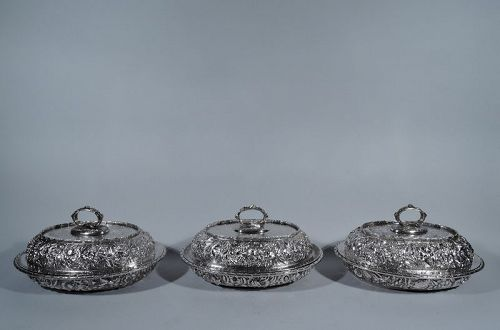 krider sterling silver covered dishes antique silv