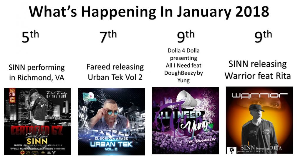 What's Happening In January 2018
