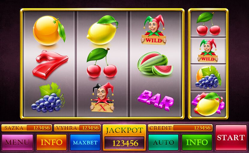 "Graphic design fot the slot machine ""Scratch it!"""