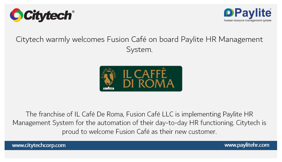 Paylite HRMS System is Chosen by Fusion Café LLC