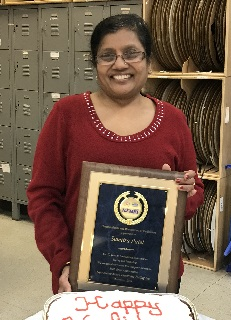 Sumitra Patel celebrates her 10 year service anniversary at NJ MET, Inc.