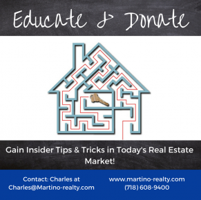 Educate and donate Martino Realty