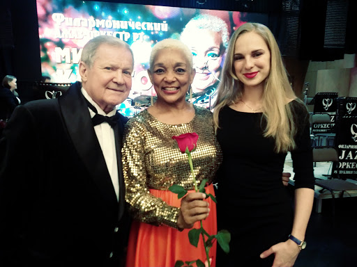 Myrna with Conductor & Keyboardist for Kazan Big Band In Russia
