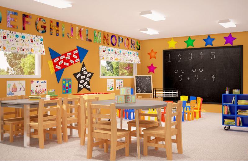 Artist rendering of new classroom