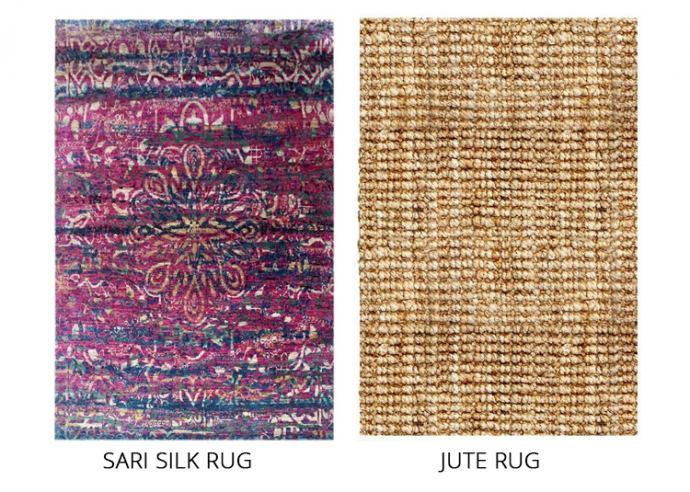 sari silk and jute rug